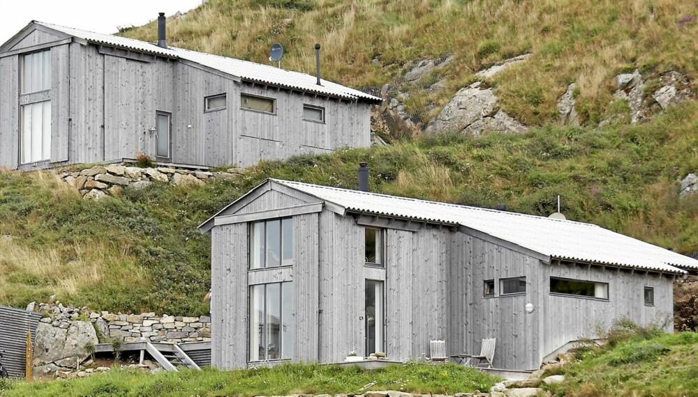 VESTLANDSTRADISJON: De arkitekttegnede hyttene på Svånes utenfor Egersund er formet som gamle uteløer og naust.