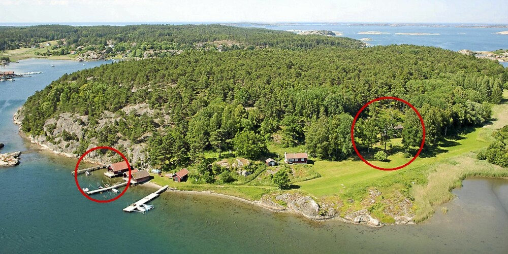 TIL SALGS: Rundö Hagudden 2, Strømstad. Pris 4 500 000 svenske kroner eller 3,8 millioner norske kroner. Type fritidshus. Antall rom 5. Boareal ca 80 kvm. Tomt 3891 kvm. Byggår 1964.