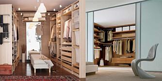 SMAKEN ER SOM BAKEN: Det finnes utallige løsninger på hvordan garderoben kan se ut.