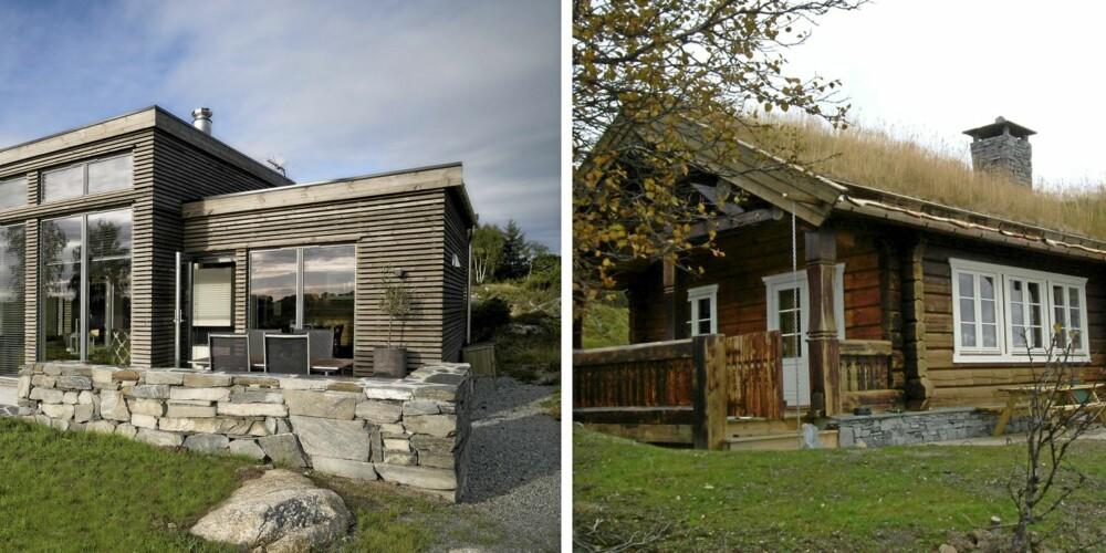 HYTTEDRØMMENE: Det er den arkitekttegnede, moderne hytta og tømmerhytta som er folks drømmehytter.