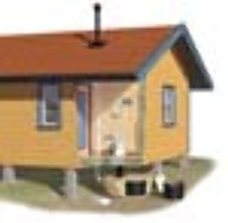 Snurredassen ga komfort til hyttefolket. Avfallet samles i de fire kamrene under gulvet.