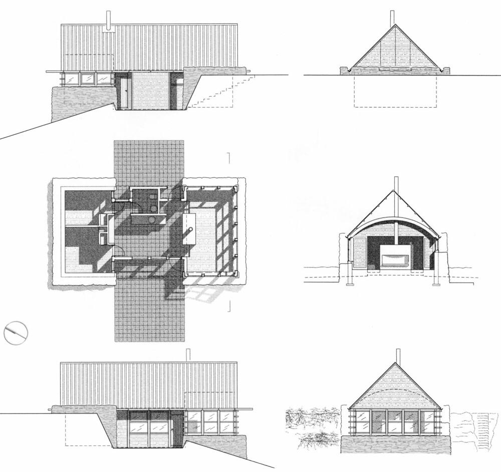 Hytte i Lyngen tegnet av  arkitekt Tord Kvien