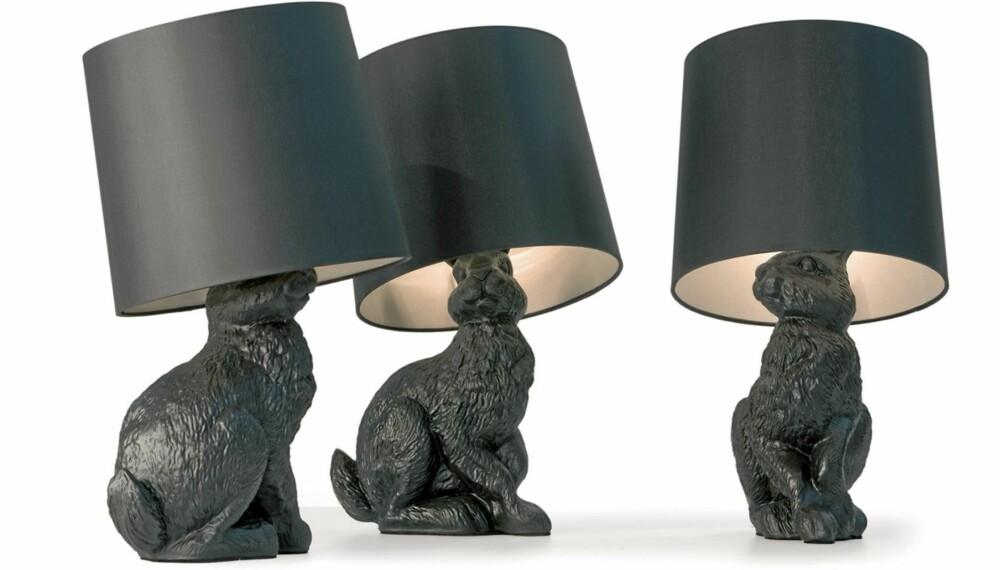 LEKENT: Lekne former og kitschy detaljer kjennetegner møblene og lampene fra nederlandske Moooi. Lampen for deg som vil ha litt humor i huset.