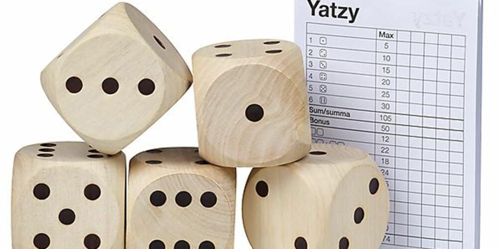SAMLE POENG: Målet med terningspillet Yatzy er å få mest mulig poeng.