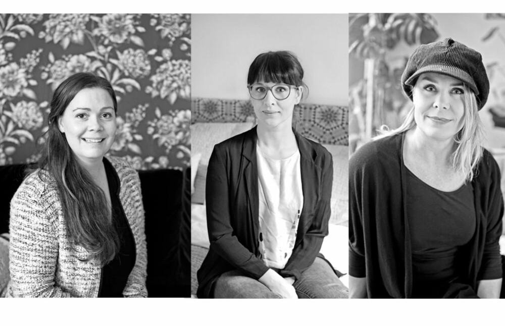 STYLISTENES TIPS: Nina Børnich, Ylva Mazetti og Juni Hjartholm kan kunsten å skape unikt interiør for en billig penge.
