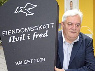 Peter Batta i Huseiernes Landsforbund er oppgitt. FrP kaller seg garantister, men det er jo bare tøys, sier han.Foto: Huseiernes Landsforbund.