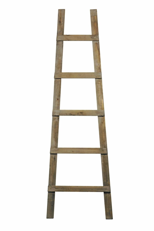 STILIG STIGE: Tøff stige fra Kvist som kan brukes til oppheng av håndklær annet.