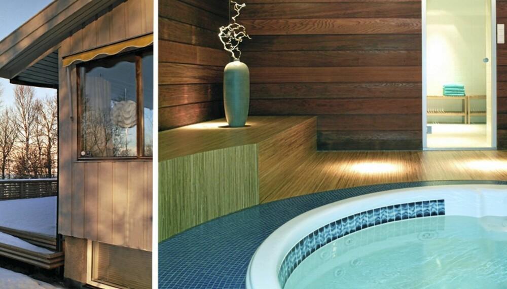 BAK FASADEN: Det tradisjonelle 70-tallshuset har fått totalrenovert interiøret, med spa og kino i kjelleren.