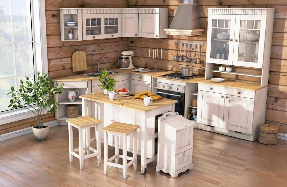 KOMPAKT: Har du liten plass, er dette et godt valg. Det modulbaserte hyttekjøkkenet er konstruert spesielt med tanke på den norske, tradisjonelle hytta. Med dybde på kun 50 cm er det veldig plasseffektivt. Modulene kan kombineres, slik at du selv kan skape din egen, skreddersydde løsning. Leveres i fargene svart, hvit og grå.   Saga Hyttekjøkken, Hyttetorget