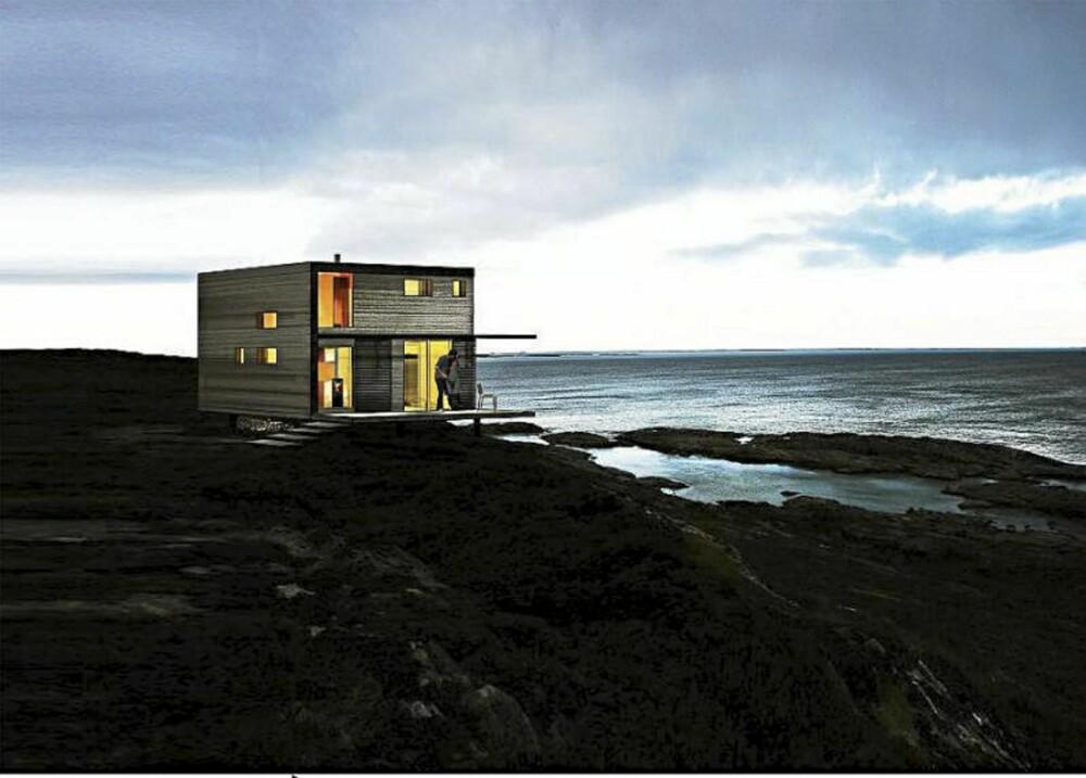 KUL OG KOMPAKT HYTTE: Hyttene i Blåtann-serien kan ha en rekke typer utforming, blant annet to etasjer.
