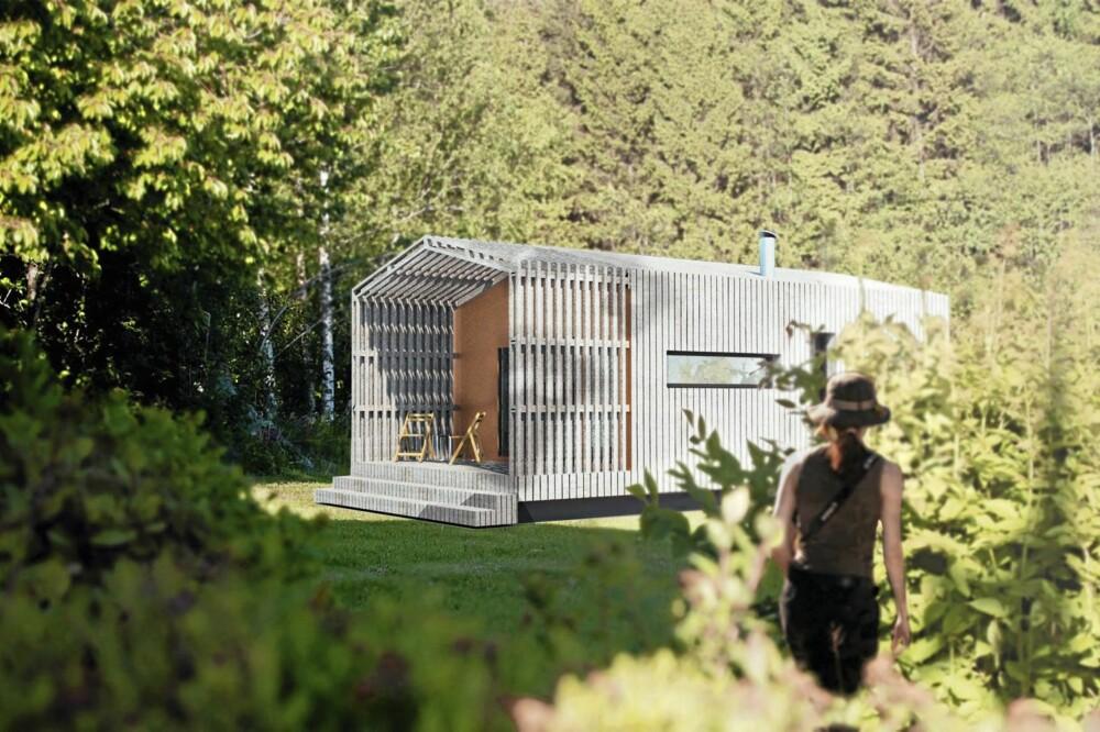 HYPERMODERNE PASSIVHYTTER: FlexPod-hytte-systemet er  signert arkitekt Finn Magnus Rasmussen i Fjord Arkitekter.