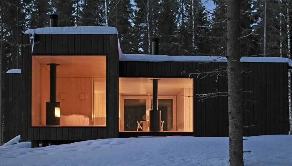 BÆREKRAFTIG OG KUL ARKTEKTUR: Four-cornered villa ved Virrat i Finland er tegnet av Avanto Architects ved arkitektene Ville Hara og Anu Puustinen.