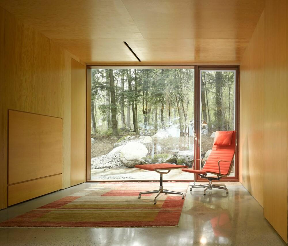 ENKELT: Så enkelt kan et rom utformes, og derfor blir kontakten med omgivelsene uforstyrret og transparent.