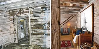 EKSTREM FORVANDLING: Kjell Ivar Smedbøl og Rikke Borge Andersen fra Bekkestua i Bærum forvandlet gamle rester fra en 1800-talls arbeiderbolig til en drøm av en hytte.