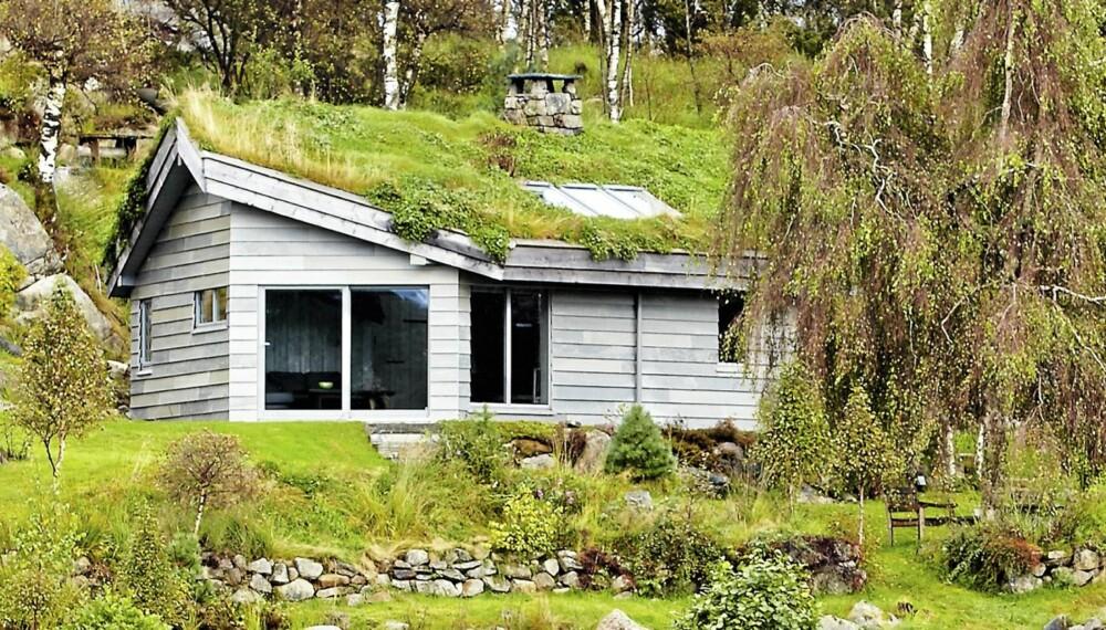 VAKKERT VED LUTSIVASSDRAGET: Mellom Gandsfjorden og Lysefjorden i Sandnes kommune ligger Runar Gabrielson Bøs skiferhytte. Bruttoareal: 60 m². Bod på 14 m². Byggeår 2011.