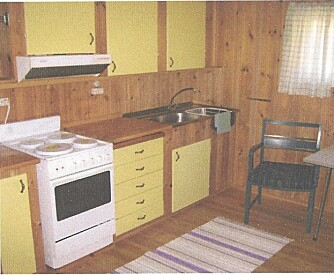 KJØKKENET FØR: Slik så det gamle kjøkkenet til Torild og Rolf ut