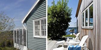 SOLID OMBYGGING. Arkitekten tok utgangspunkt i det som var brukbart i den gamle hytta og bygget videre på dette. Den nye hytta er kledd i nordamerikansk sedertre.
