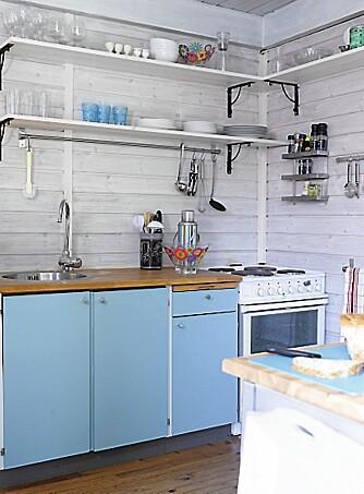 KJØKKENKROK: Det nye kjøkkenet har blitt både lyst og praktisk