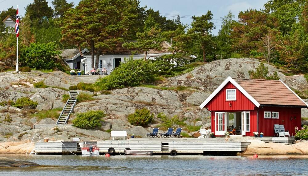 FJORÅRETS VINNER: Denne flotte sjøhytta ble Norges Drømmehytte i fjor.
