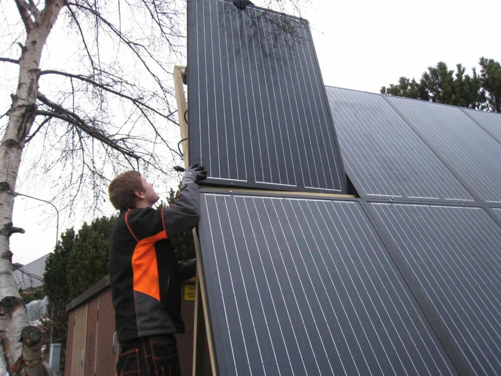 SOLCELLE PÅ HYTTA: Norge er et ideelt land for solceller.
