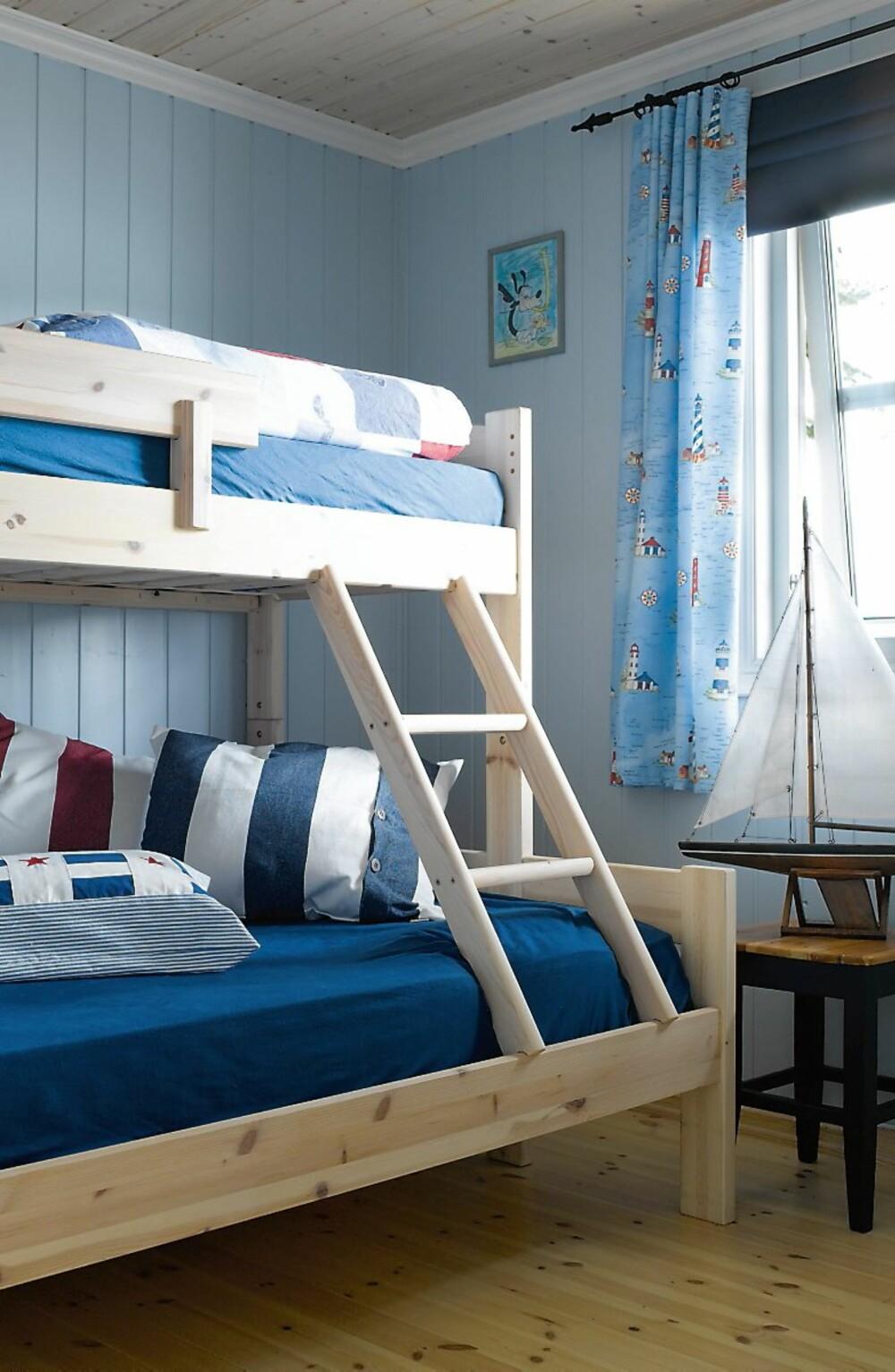KLASSISK GUTTEROM: I Skjebergkilen ligger denne hytta. Den ble kjøpt i 1998. Byggeår fra 50-tallet. Her ønsket de å pusse opp soverommet.