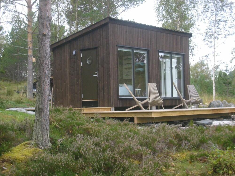 RINDALSHYTTA SMÅHUS: Hytta er på 15 kvadratmeter og er hovedsakelig to soverom. Prislappen er like i underkant av 300 000.
