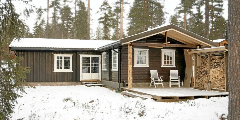 ETTER: Resultatet ble et praktisk tilbygg i vinkel til eksisterende hytte.