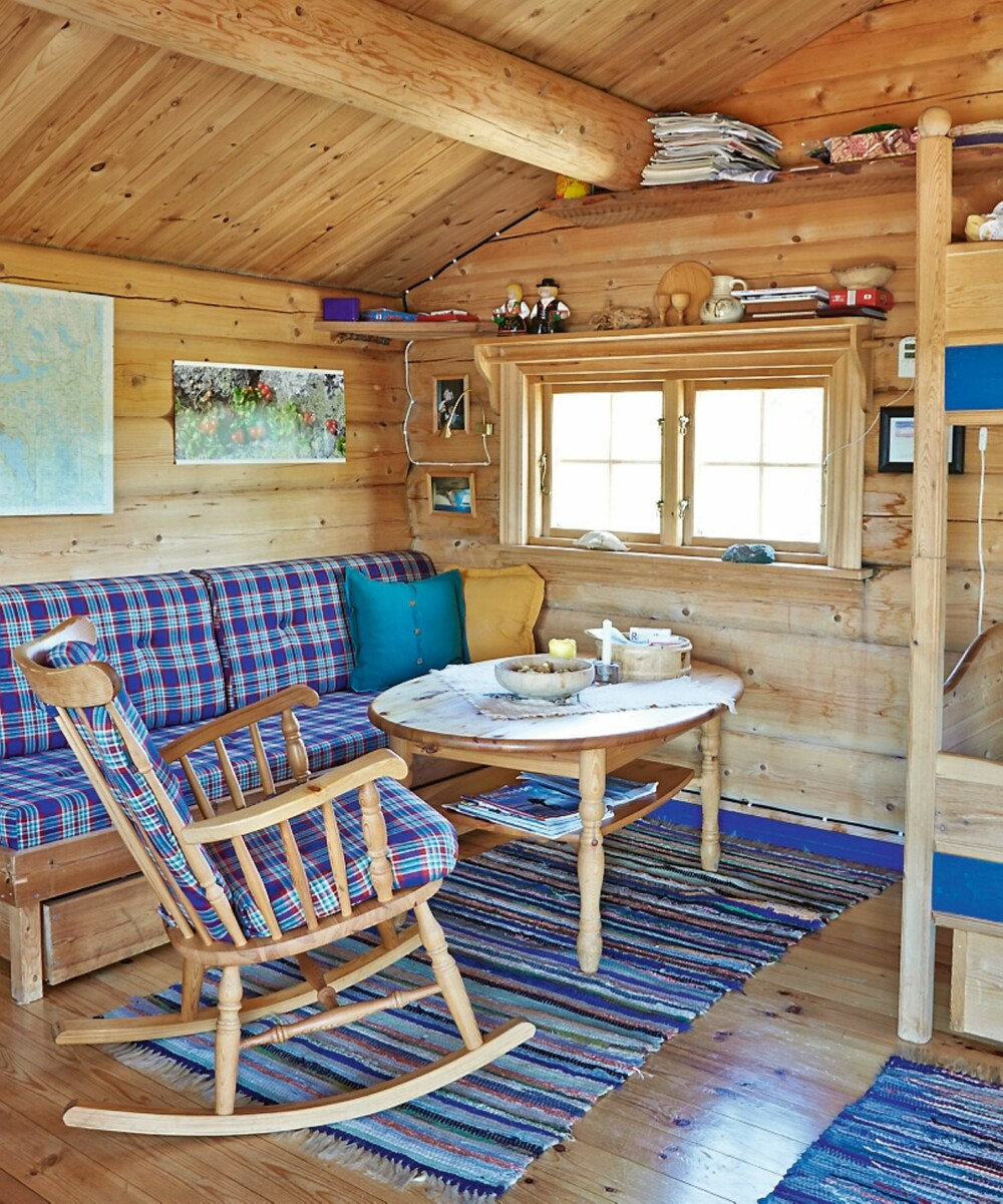 Avslapping: En tradisjonell laftet tømmerhytte representerer lange norske byggeskikktradisjoner.