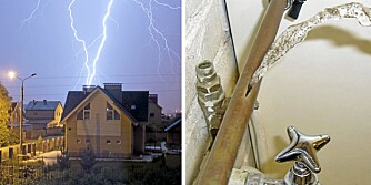 MILLIONSKADER: Det er større risko for at huset ditt enten blir rammet av lynnedslag eller vannskader enn at noen skal bryte seg inn i det.