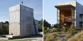 Lekent: Hytta er tegnet av arkitektfirmaet Crosson Clarke Carnachan Architects og er en moderne versjon av eldre sjøhytter på New Zealand.