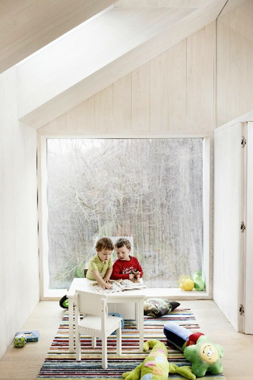HARMONISKE ROM: Også barna fikk enkle, svært stilrene rom.