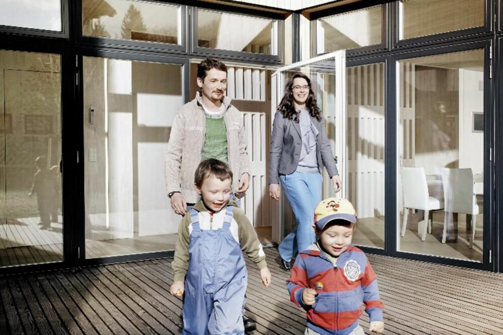 HELE FAMILIEN FÅR GOD PLASS: Utgangspartiet i Sunlighthouse er åpent og svært oversiktlig.