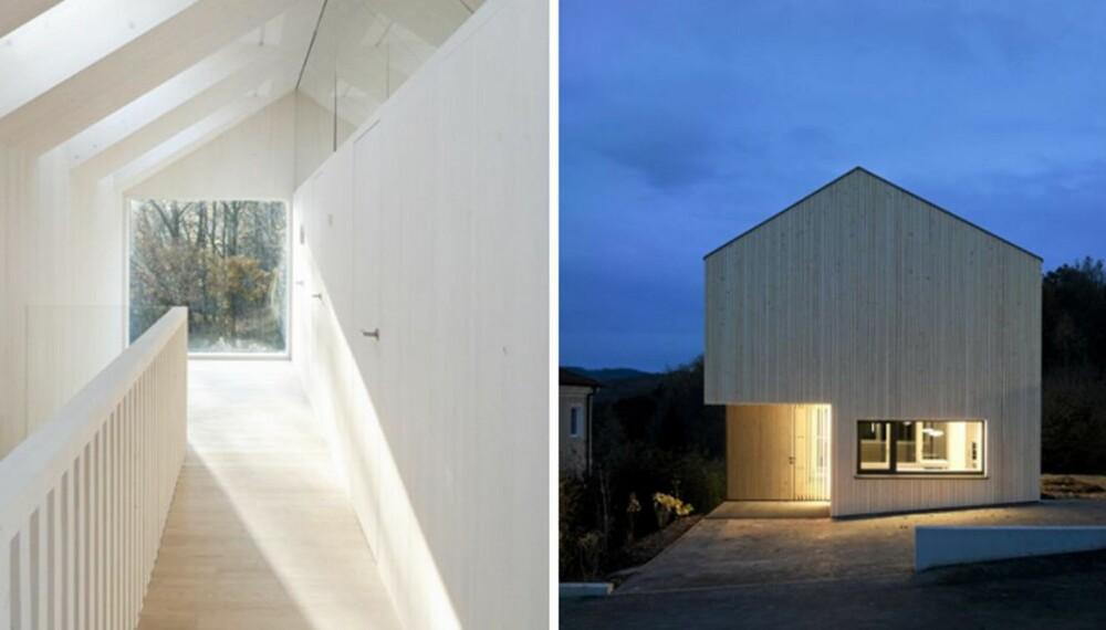 AKTIV ARKITEKTUR: Dette familiehuset i Pressbaum ved Wien produserer mer energi enn det selv bruker. Dette er hva mange mener er et eksempel på fremtidens bygninger.
