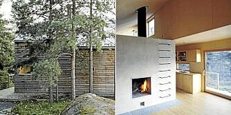 MINIMALISME OG MINI STØRRELSE: Femti- og sekstitallets enkle hytter var en av inspirasjonskildene til arkitekt  Marianne Borges Woody-konsept. Her står effektiv plassutnyttelse i høysetet. Her en 35 kvm Woody-hytte i Drøbak for familien Wester.