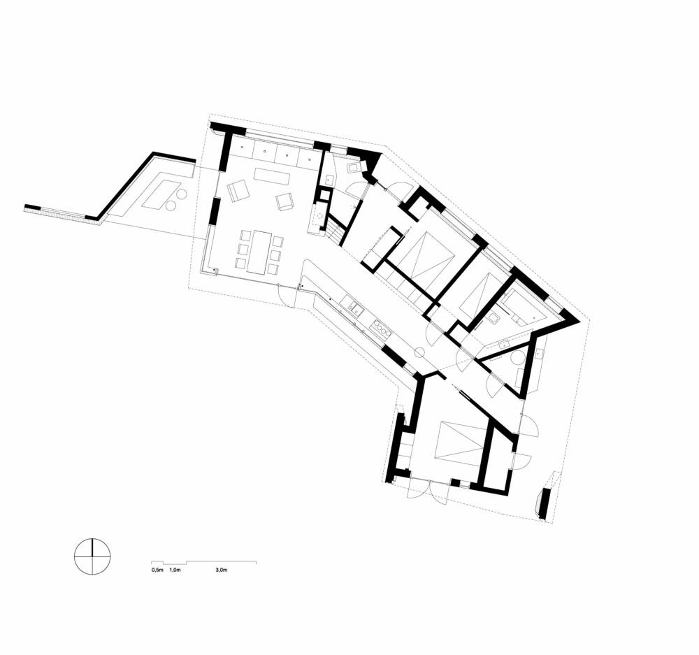 BUET FORM: Ved å gi hytta en buet form, etableres det et fokus i forkant av hytta. (FOTO: Olav Resell)