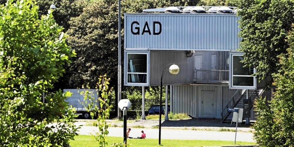 Galleriet GAD i Oslo er satt sammen av containere. Mmw architects of norway.