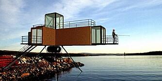 MODULHUS: Denne måten å tenke på kan synes å ha sprunget ut fra et miljøprosjekt MMW Architects of Norway gjorde med gjenbruk av conteinere i 1995. Bildet er av modellen de brukte på Momentum i  1998.