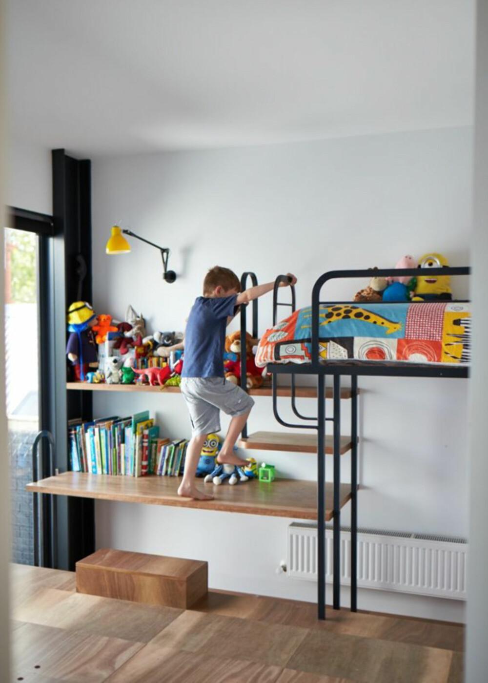 BARNAS HUS: Barnets lek var et viktig premiss for arkitektene da de tegnet huset.