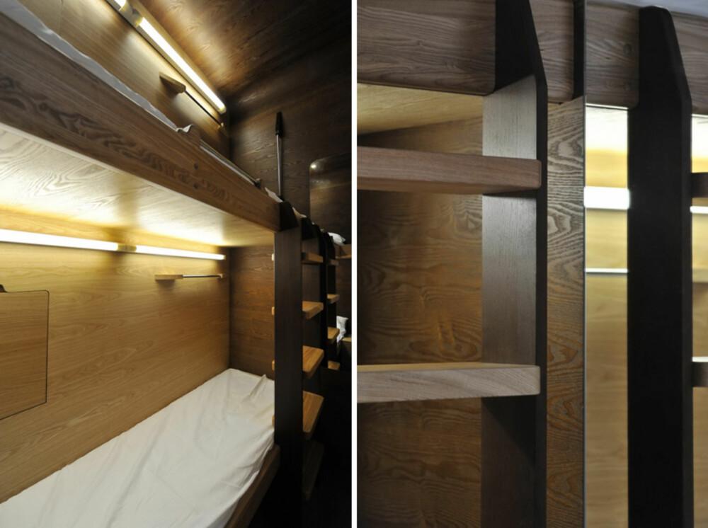 SOVEPLASS: Disse sovekapslene skal gi deg muligheten til å sove trygt, rent og behagelig for en billig penge.