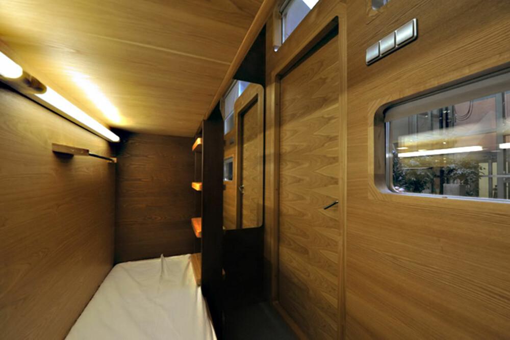 UNIKT HOTELL: På reisefot og trenger et kjapt sted og sove? Hva med en sovekapsel?
