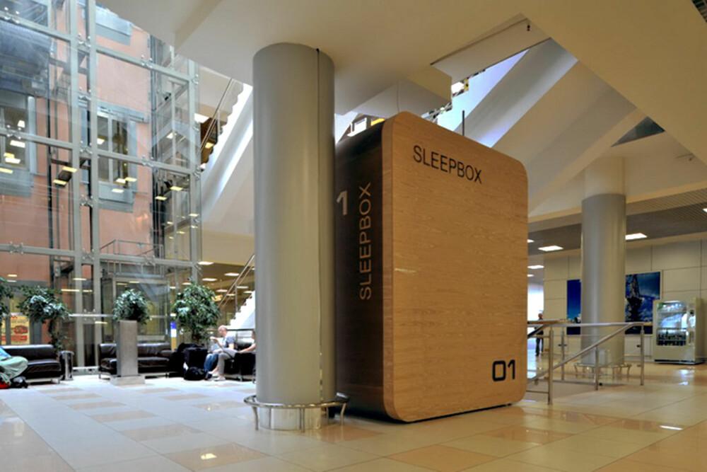 KAN PLASSERES OVERALT: Togstasjoner, flyplasser, kjøpesentre eller store kontorbygg; nå kan du snart sove middagsluren overalt.