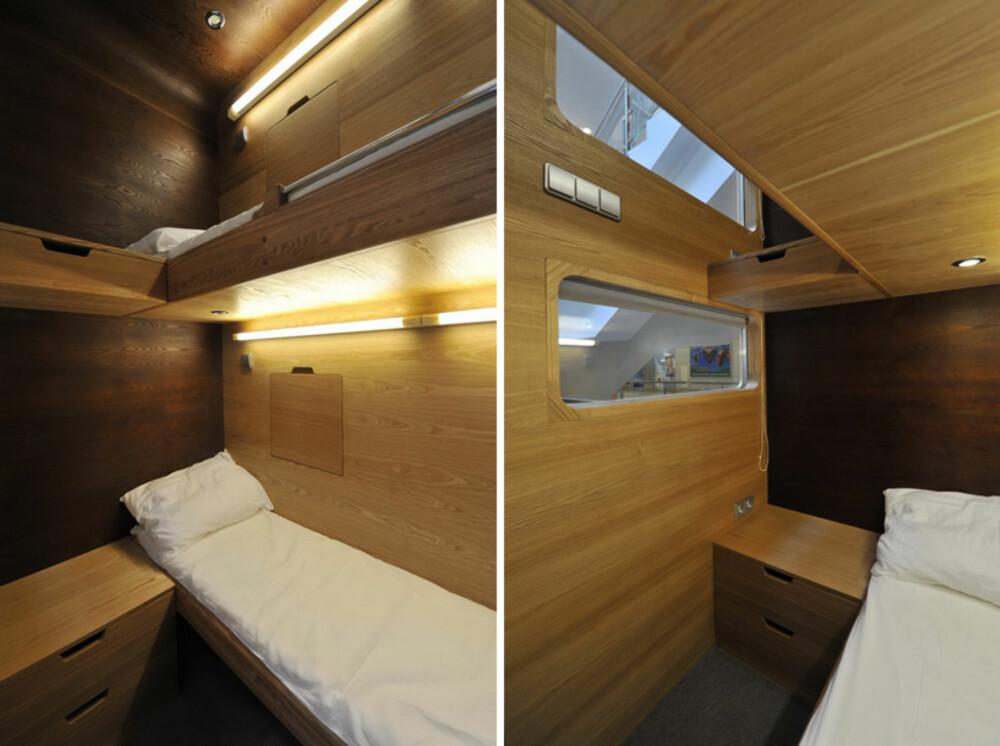 SOVEBOKS: Sleepbox Hotel i Moskva består av en rekke identiske sovekaplser.