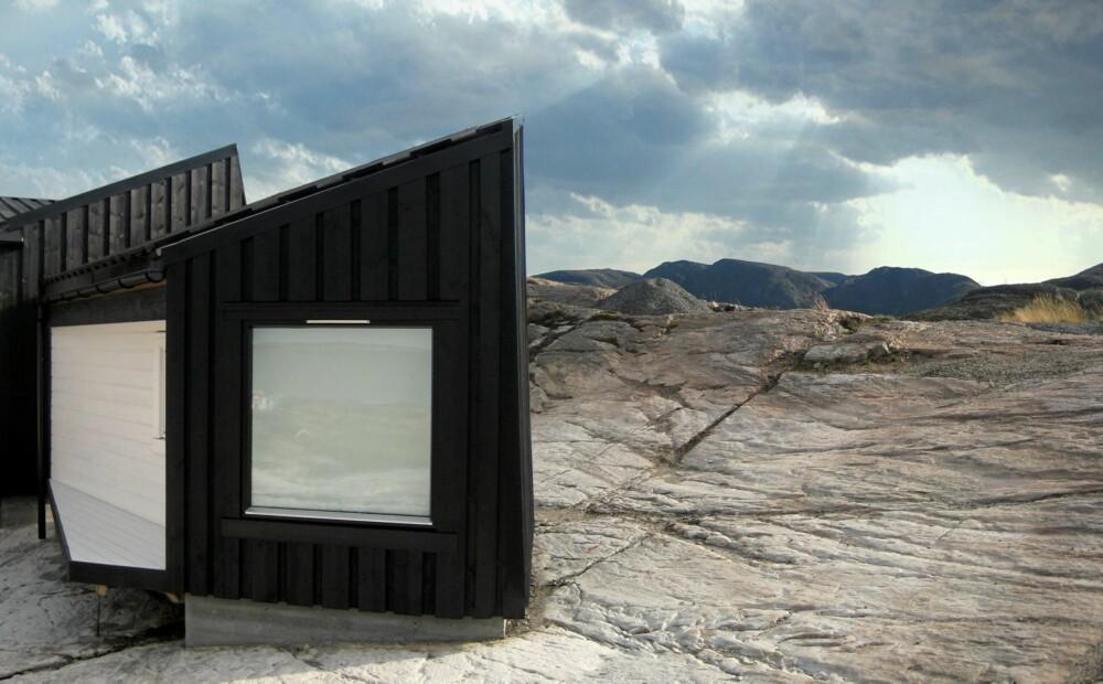 ALLVÆRSHYTTE: Hytta på Fosenhalvøya er designet for all slags vær.