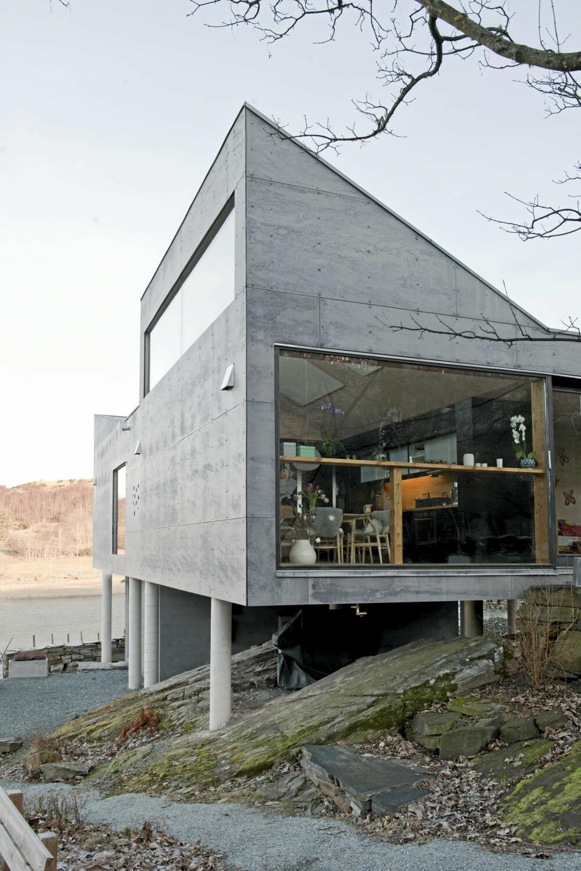 HØYREIST: Den høyreiste profilen i helt i enden av huset gir bygningen en barsk og lett gjenkjennelig karakter.