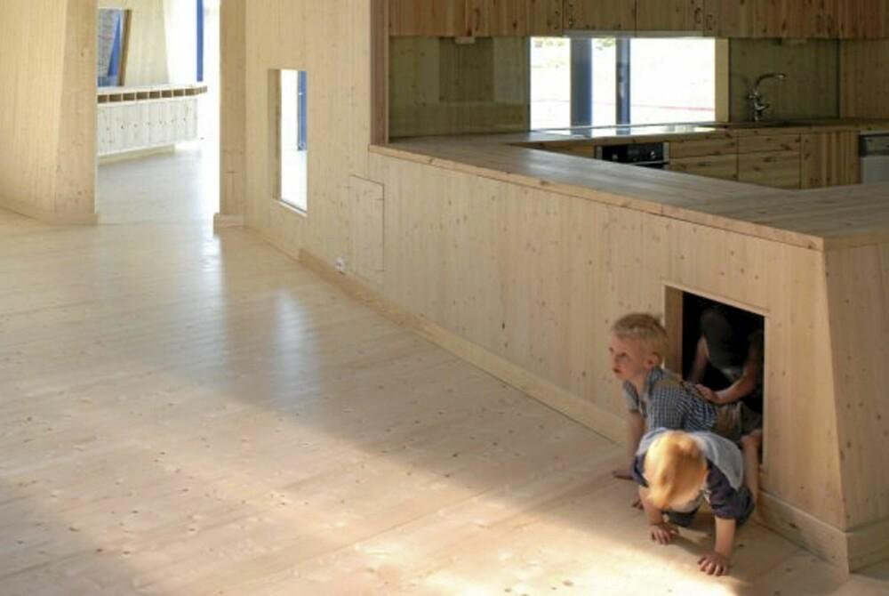 EN DRØM: Barn elsker skjulte rom og å gå på oppdagelsesferd.