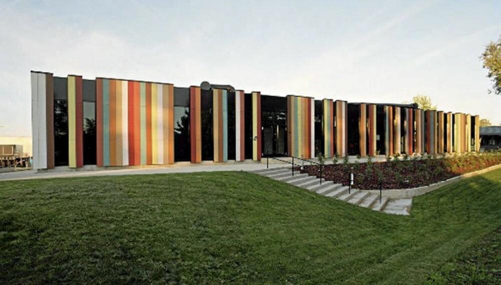 INTERNASJONALT: Oslo International Schools fasade gjenspeiler skolens mangfoldighet.