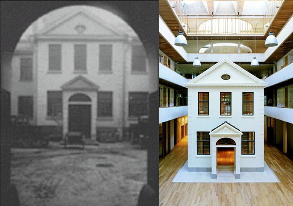 NYTT OG GAMMELT: Bakgården er bygget inn og danskehusets fasade har fått et ansiktsløft - men er for det store og hele bevart i sin helhet.
