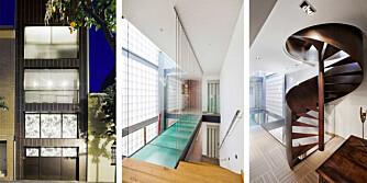 I HØYDEN: Det tomten manglet på bredde har arkitektene tatt igjen på husets lengde og høyde.