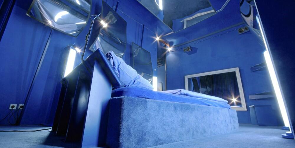 Blue Room: Et rom holdt i bare blå farger. Pris 115 euro.