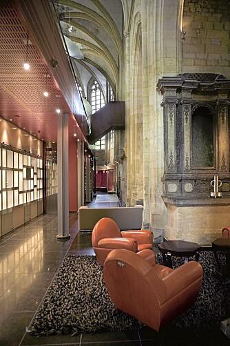 SKJØNN FORENING: Det estetiske uttrykket på hotell Kruisherenhotel er en vellykket forening av moderne design med middelaldersk arkitektur.